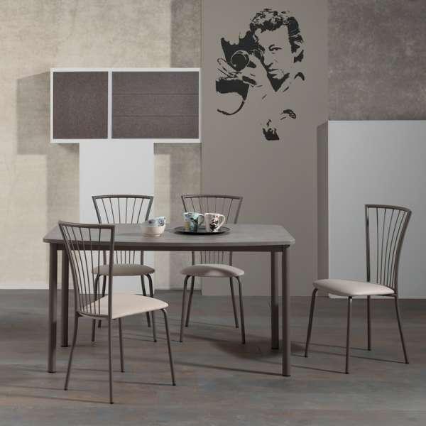 Chaise de cuisine en vinyl et métal - Jana 2 - 2