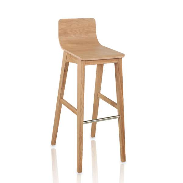 tabouret de bar ou snack contemporain en bois enoa 4 pieds tables chaises et tabourets. Black Bedroom Furniture Sets. Home Design Ideas
