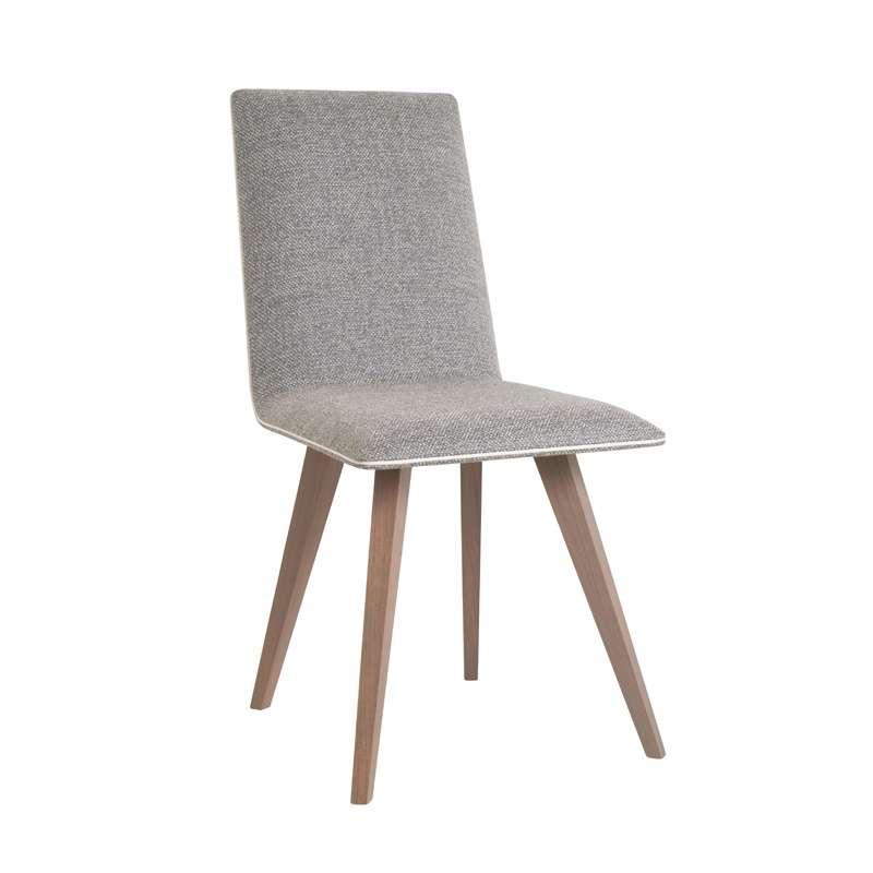 chaise contemporaine en bois et tissu enoa 4 pieds. Black Bedroom Furniture Sets. Home Design Ideas