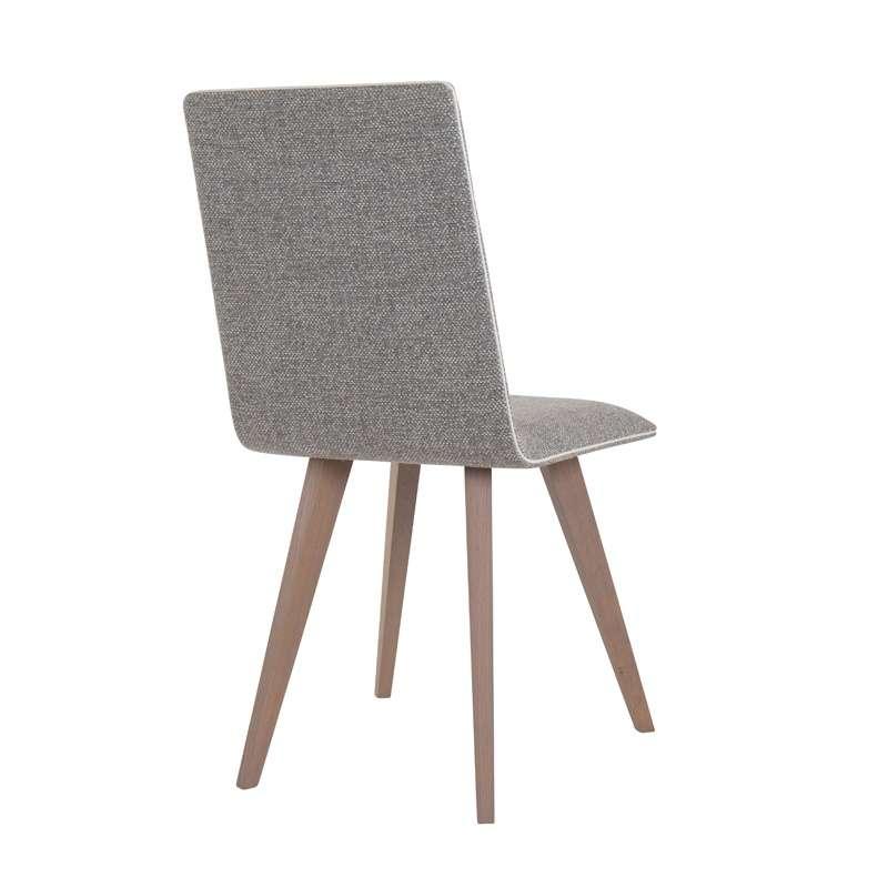 Chaise contemporaine en bois et tissu enoa 4 pieds tables chaises et tabourets - Chaise bois flotte ...