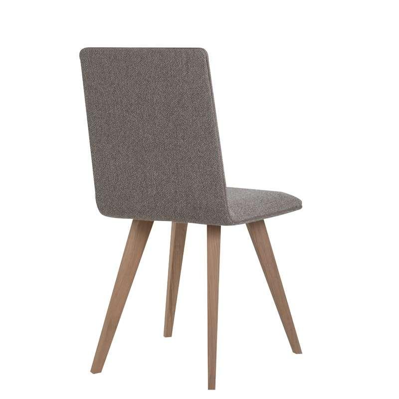 Chaise moderne en bois et tissu enoa 4 pieds tables for Chaise 4 en 1