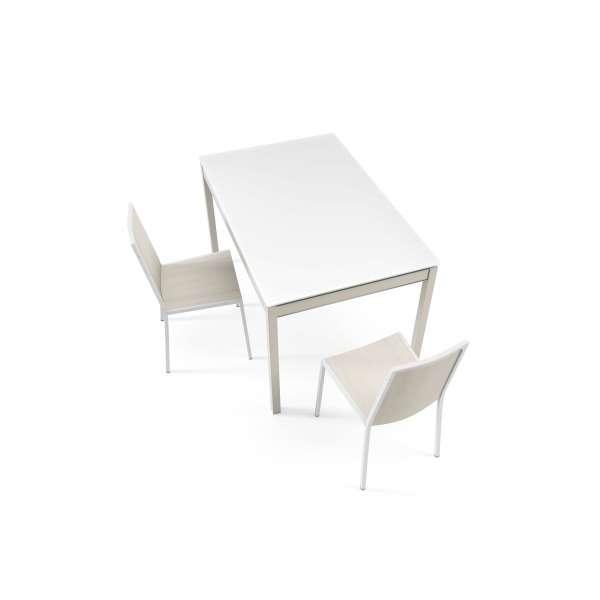 Table de cuisine en verre avec rallonge - Bambola bois