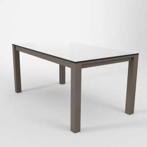 Table en verre extensible blanche - Table Quadra