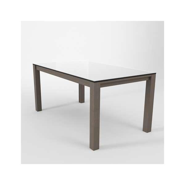 Table moderne en verre extensible quadra 4 pieds - Table moderne en verre ...