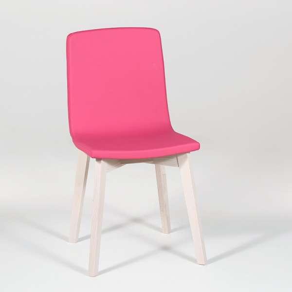 Chaise moderne en bois et tissu synthétique - Eclipse Confort