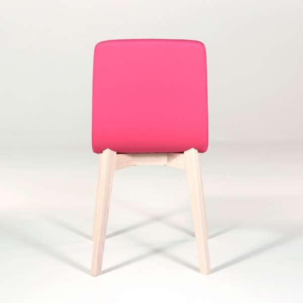 Chaise design en bois et tissu PVC - Eclipse confort 7 - 3