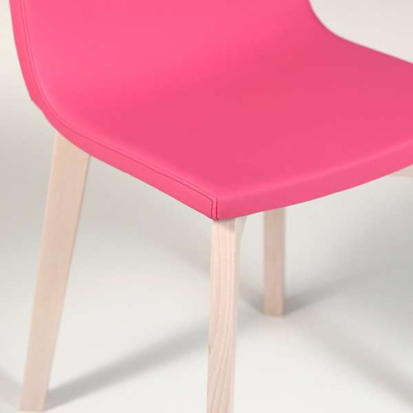 Chaise design en bois et tissu PVC - Eclipse confort 9 - 5