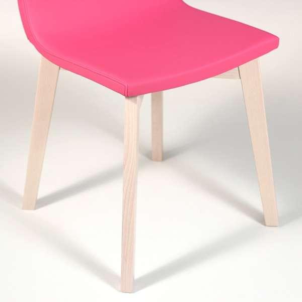 Chaise design en bois et tissu PVC - Eclipse confort 10 - 6