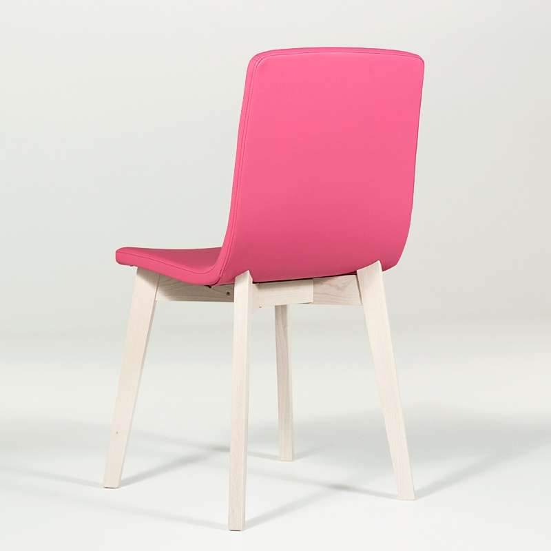 chaise design en bois et tissu pvc eclipse confort 4 pieds tables chaises et tabourets. Black Bedroom Furniture Sets. Home Design Ideas