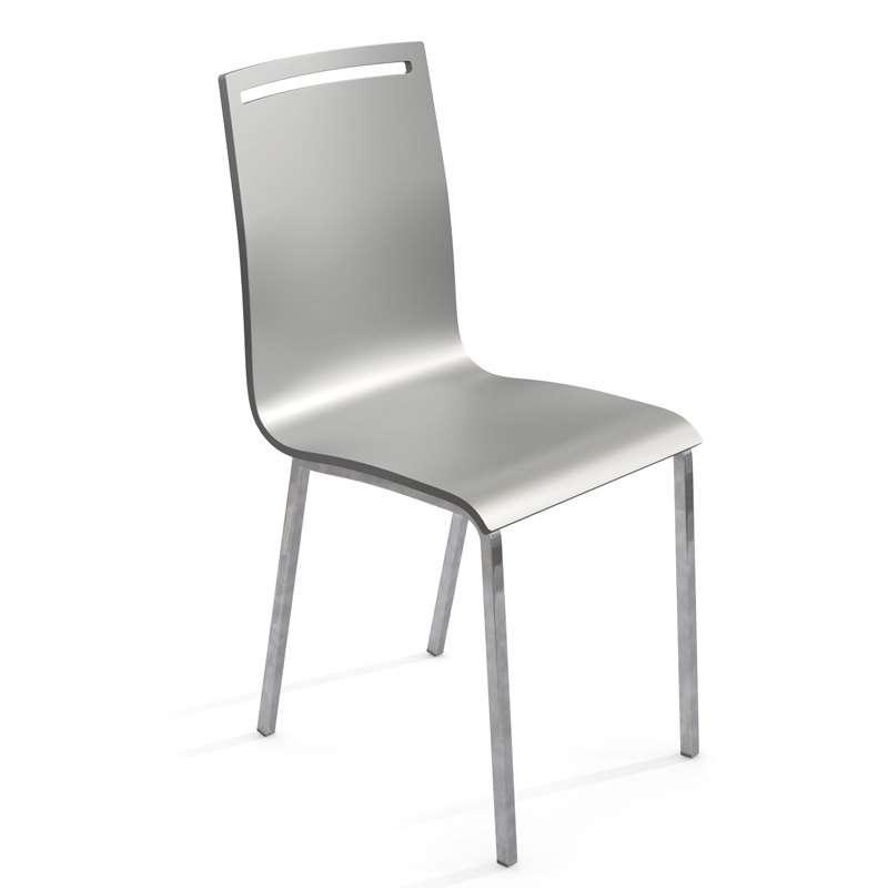chaise moderne en m tal et bois laqu nera 4 pieds tables chaises et tabourets. Black Bedroom Furniture Sets. Home Design Ideas