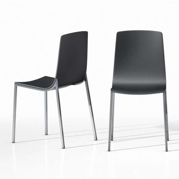 Chaise design en métal et bois - Hot 4 - 2