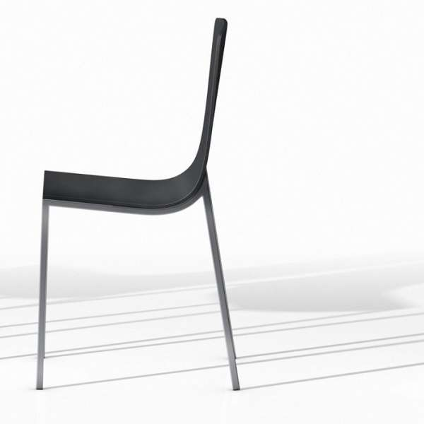 Chaise design en métal et bois - Hot 5 - 3