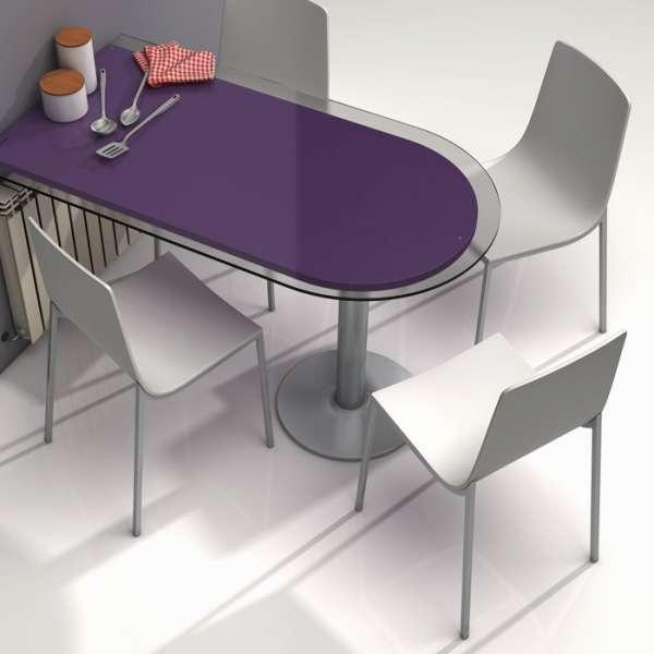 Chaise design en métal et bois - Hot 6  - 4