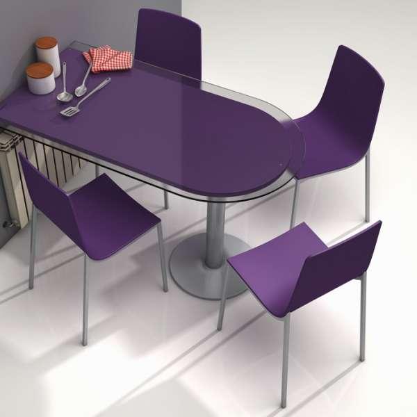 Chaise design en métal et bois - Hot 7 - 5