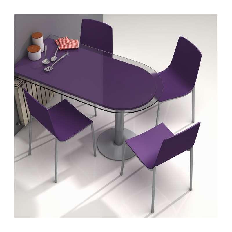 chaise de cuisine design en m tal et bois hot 4 pieds tables chaises e. Black Bedroom Furniture Sets. Home Design Ideas