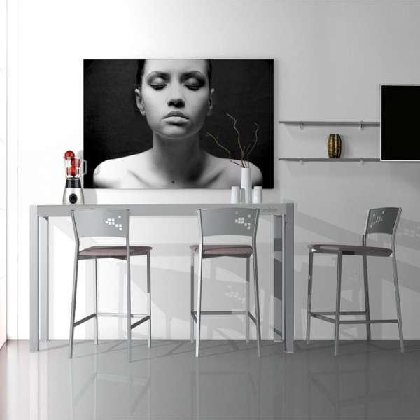 table console moderne en verre hauteur 90 cm cumbre 4 pieds tables chaises et tabourets. Black Bedroom Furniture Sets. Home Design Ideas
