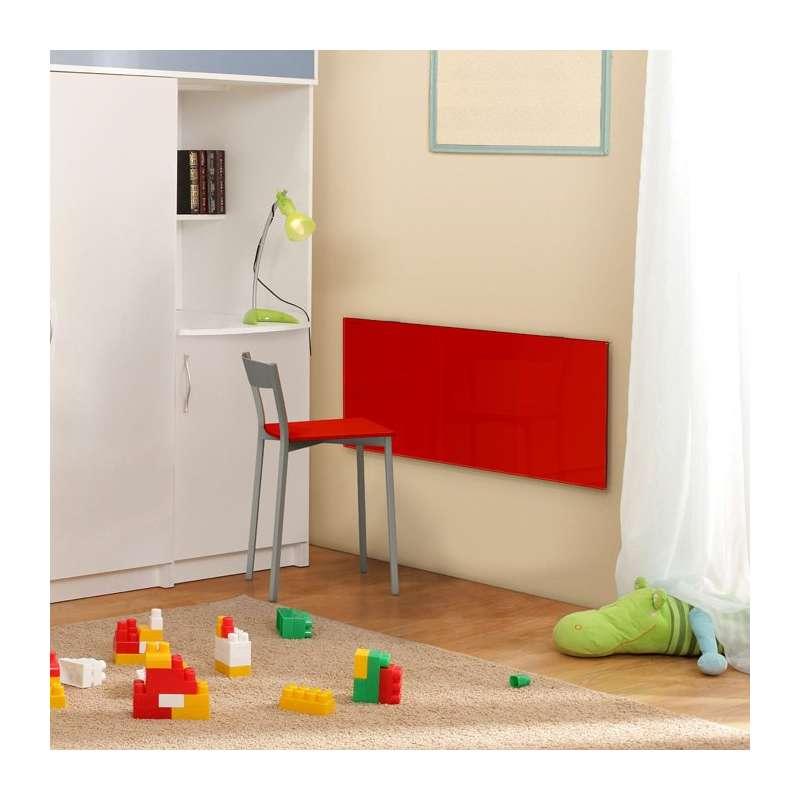table murale rabattable en verre vulcano 4 pieds. Black Bedroom Furniture Sets. Home Design Ideas