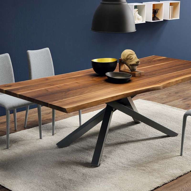 Table design en bois pechino midj 4 pieds tables - Table originale en bois ...