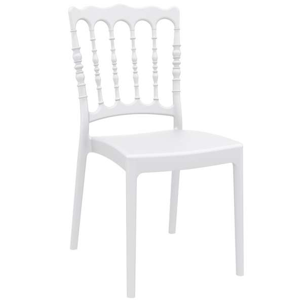 Chaise blanche Napoléon III en polypropylène - Napoléon - 8
