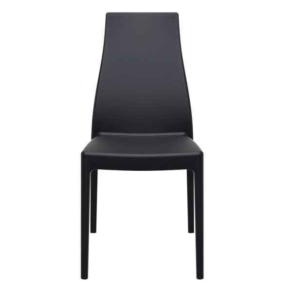 Chaise en polypropylène noir - Miranda 5 - 7