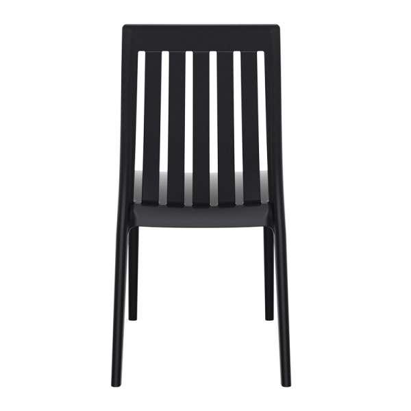 Chaise moderne en polypropylène noir - Soho 4 - 12