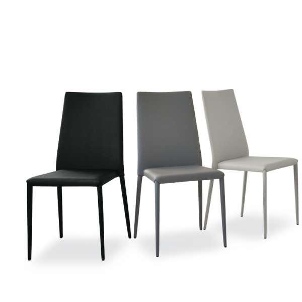 Chaise contemporaine en cuir - Bea 1 - 8