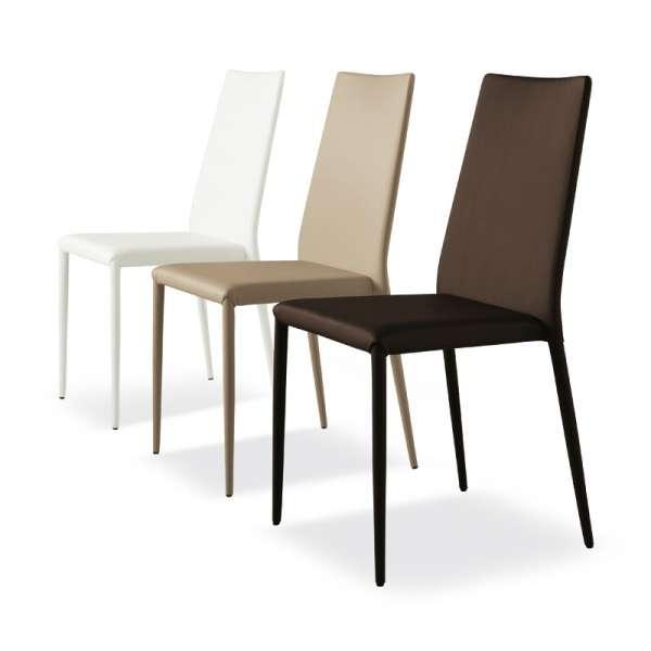 Chaise contemporaine en cuir - Bea 2 - 9