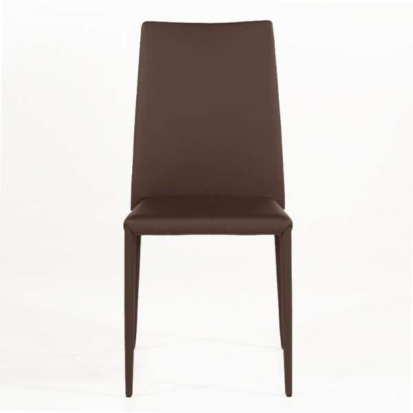 Chaise contemporaine en cuir marron - Bea - 2
