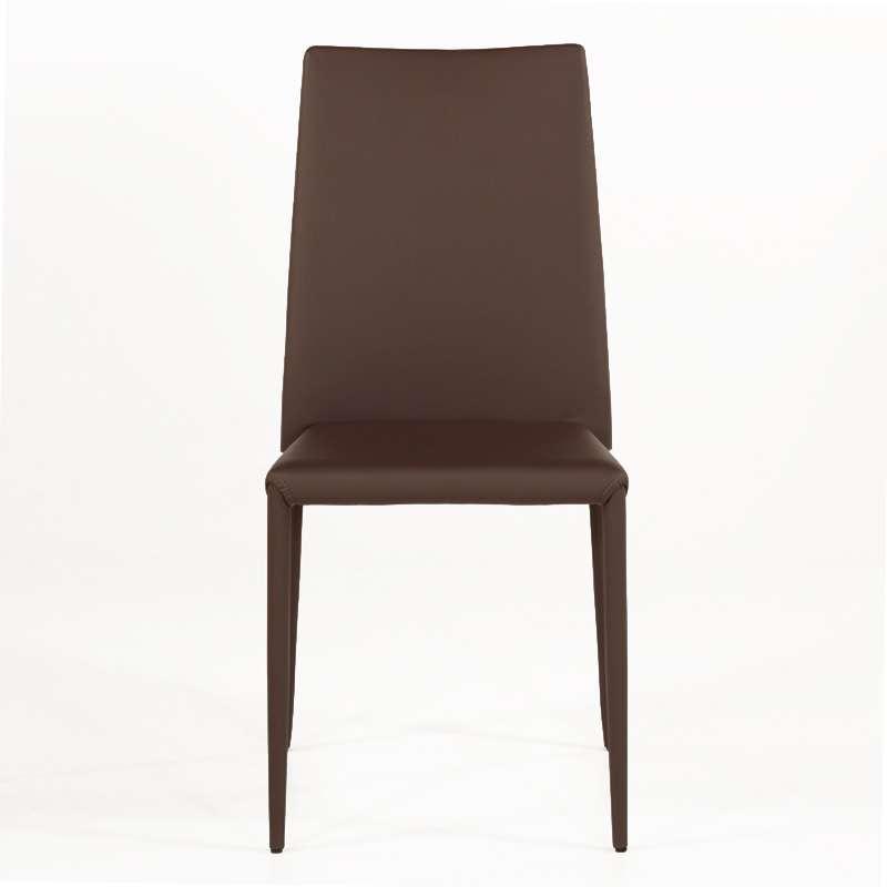 chaise contemporaine en cuir bea 4 pieds tables chaises et tabourets. Black Bedroom Furniture Sets. Home Design Ideas