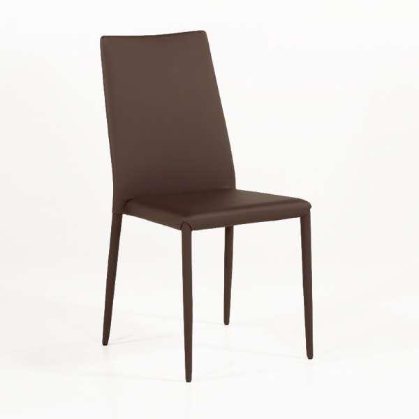 Chaise contemporaine en cuir - Bea