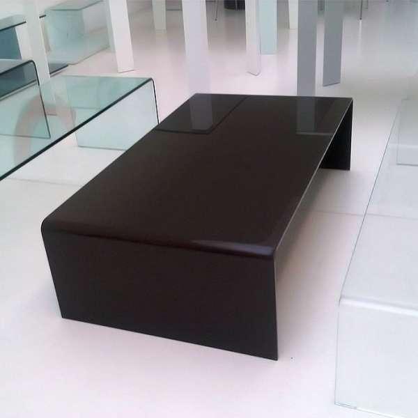 Table basse moderne rectangulaire en verre - Bridge Sovet® 1 - 2
