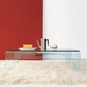 Table basse design rectangulaire ou carrée en verre - Frog Sovet®