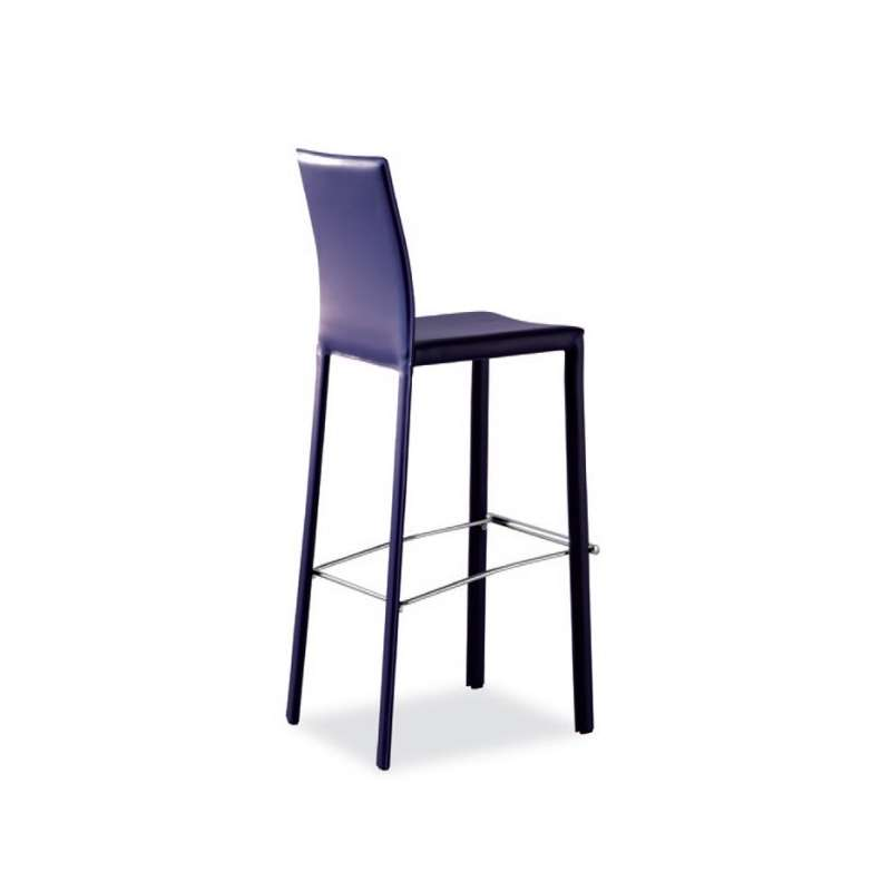 Tabouret snack ou bar en cro te de cuir ou synderme eliot 4 pieds table - Tabouret bar aubergine ...