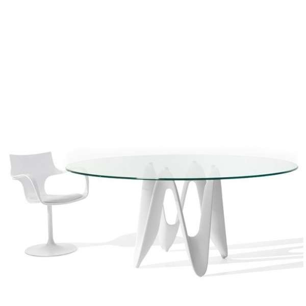 Table ovale design en verre - Lambda Sovet®