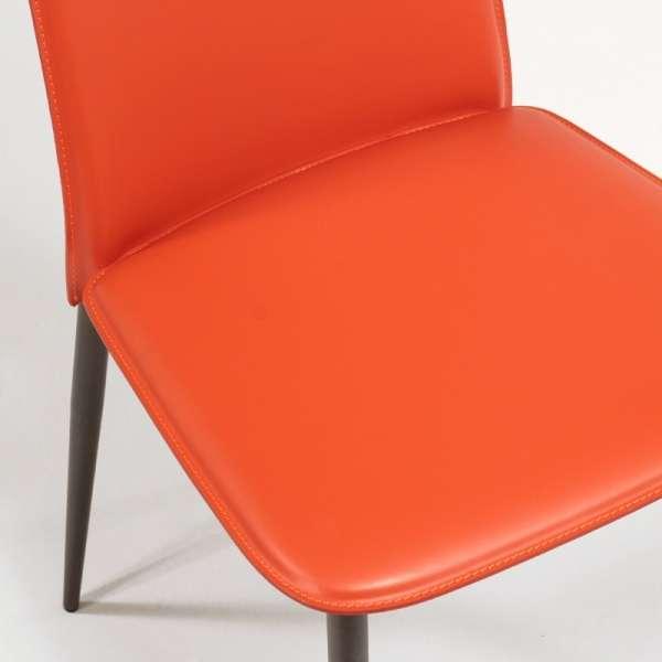 Chaise en croûte de cuir -  Ely-Plus 7 - 9