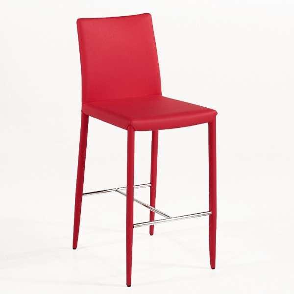 Tabouret snack ou bar contemporain en cuir beo 4 pieds tables chaises - Tabouret de bar contemporain ...