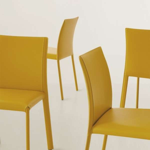 Chaise en croûte de cuir ou synderme - Kiris 8 - 2
