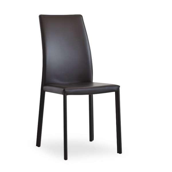Chaise de salle à manger en croûte de cuir ou synderme - Giada
