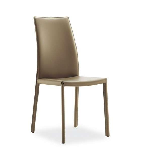 Chaise de salle à manger en croûte de cuir ou synderme - Giada - 9