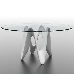Table ronde design en verre - Lambda Sovet® 4