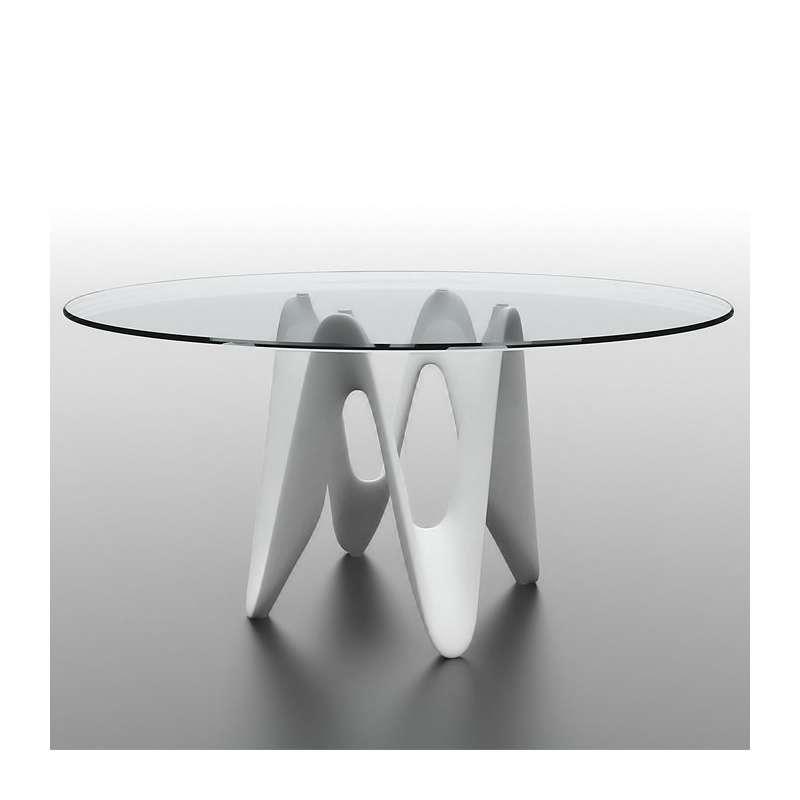 table ronde design verre lambda sovet