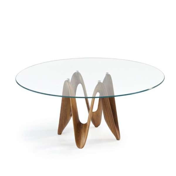 Table ronde design en verre - Lambda Sovet® 9 - 9