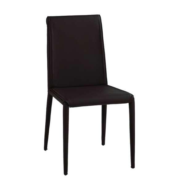 Chaise contemporaine en cuir - Cinthia