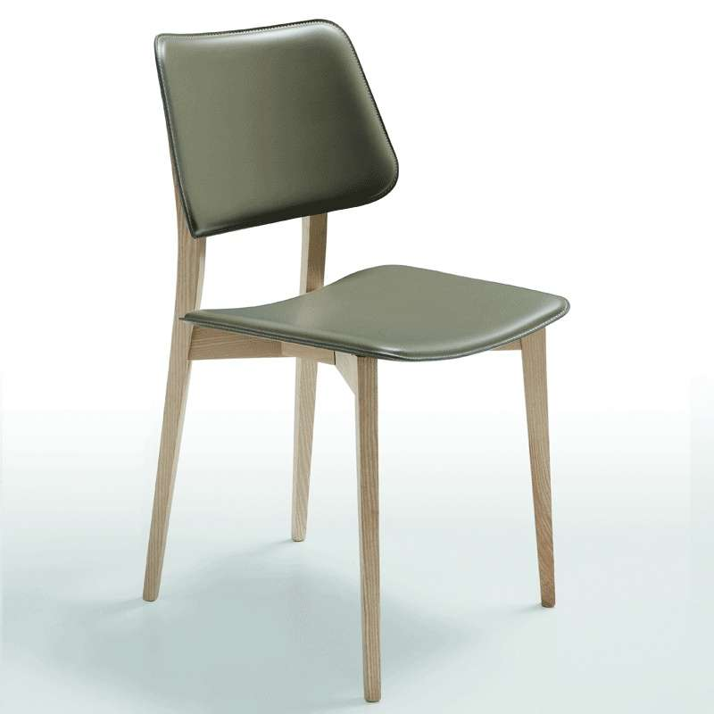 chaise vintage en cuir joe midj 4 pieds tables. Black Bedroom Furniture Sets. Home Design Ideas