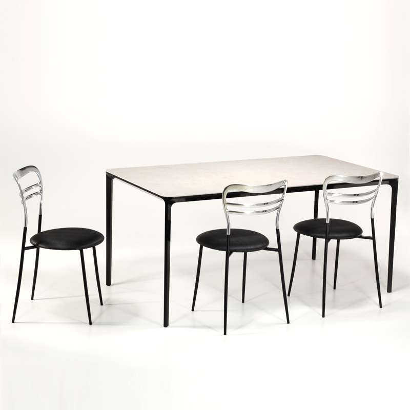 Table en c ramique design extensible slim sovet 4 for Table 4 pieds
