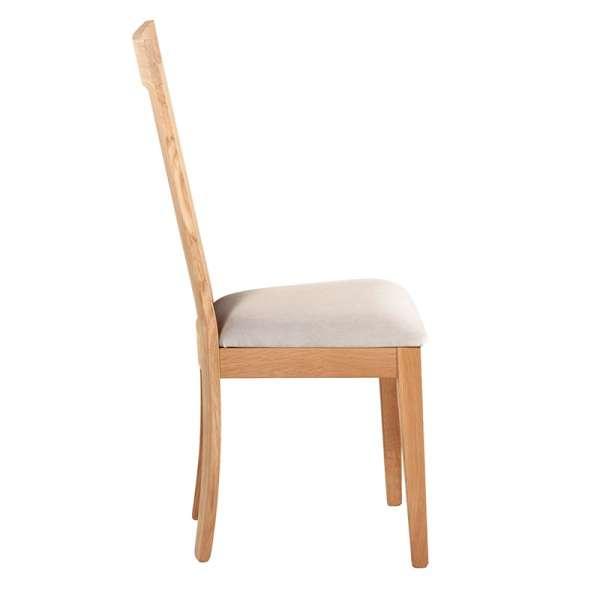 Chaise en bois et tissu rembourré - Crocus 2 - 2