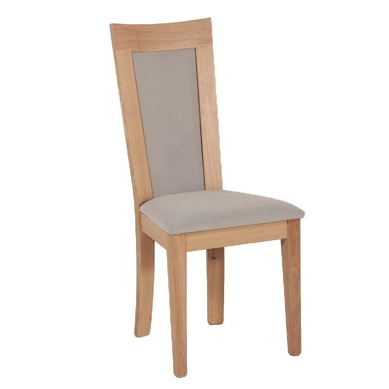 Chaise en bois et tissu rembourr crocus 4 pieds - Customiser chaise en bois ...