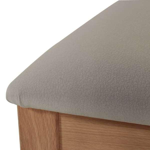 Chaise en bois et tissu rembourré - Crocus 4 - 4