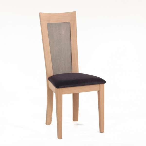 Chaise contemporaine dossier bois - Crocus