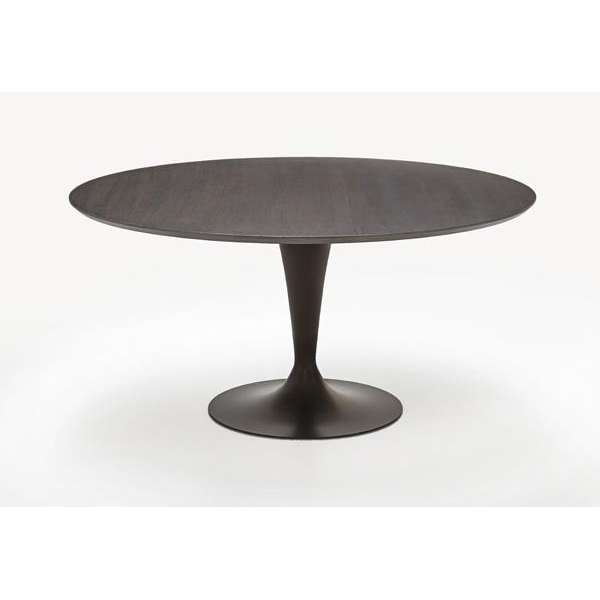 Table ronde design plateau bois - Flute Sovet® 5 - 7